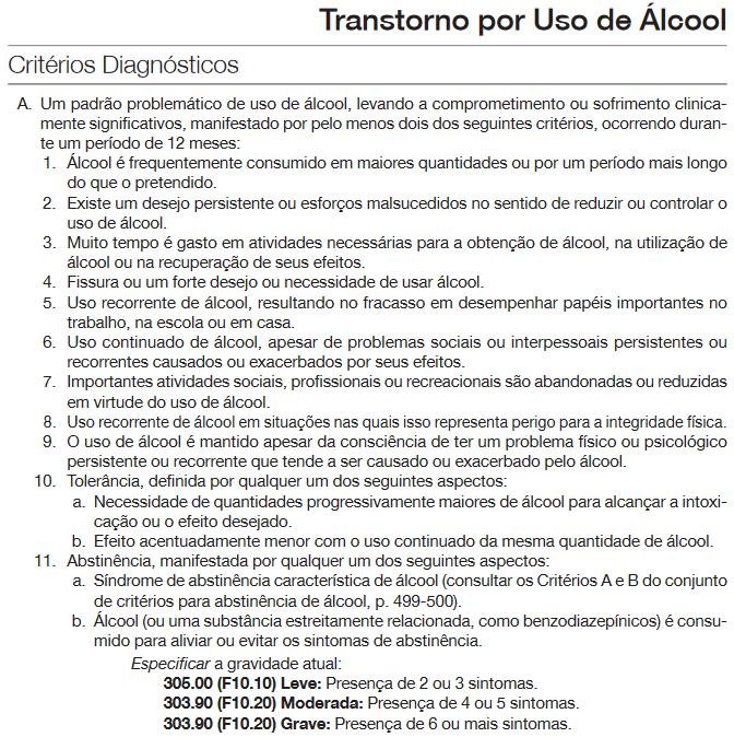 Alcool DSM5
